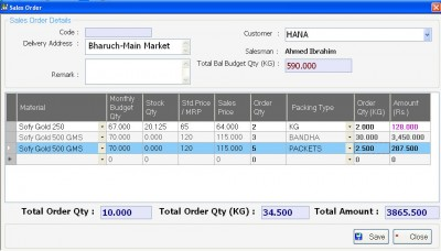 Tablet -Sales Order