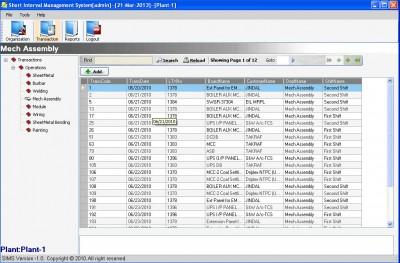 SIMS Transaction View